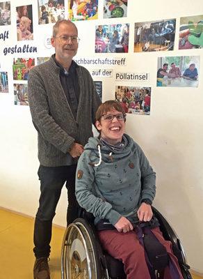 Melanie Bergzoll und Sven Siebert von Ois Inklusiv.