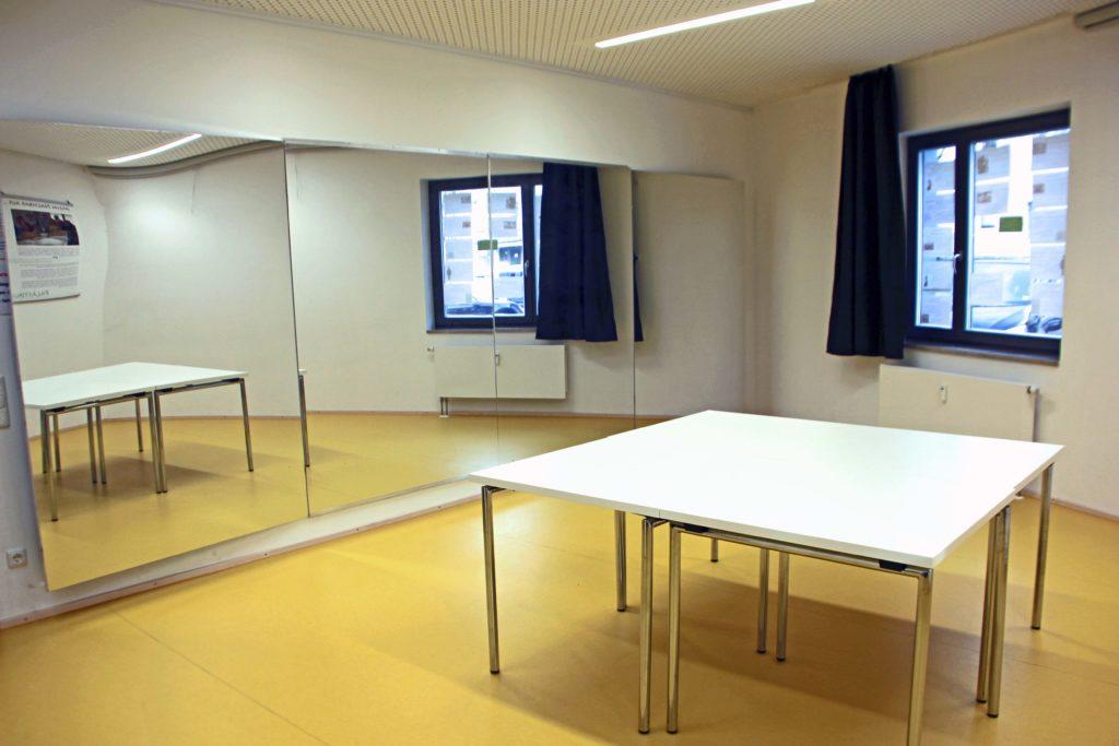 Foto Gruppenraum mit Spiegel